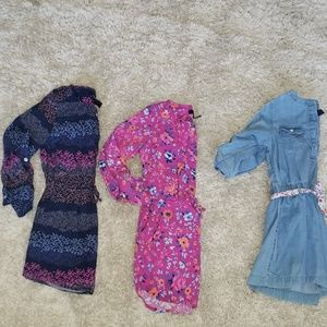 Gap Girls size S 6/7 3- dresses.